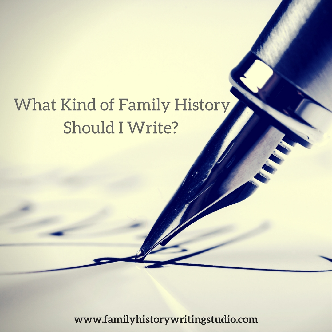 how to write a family history report